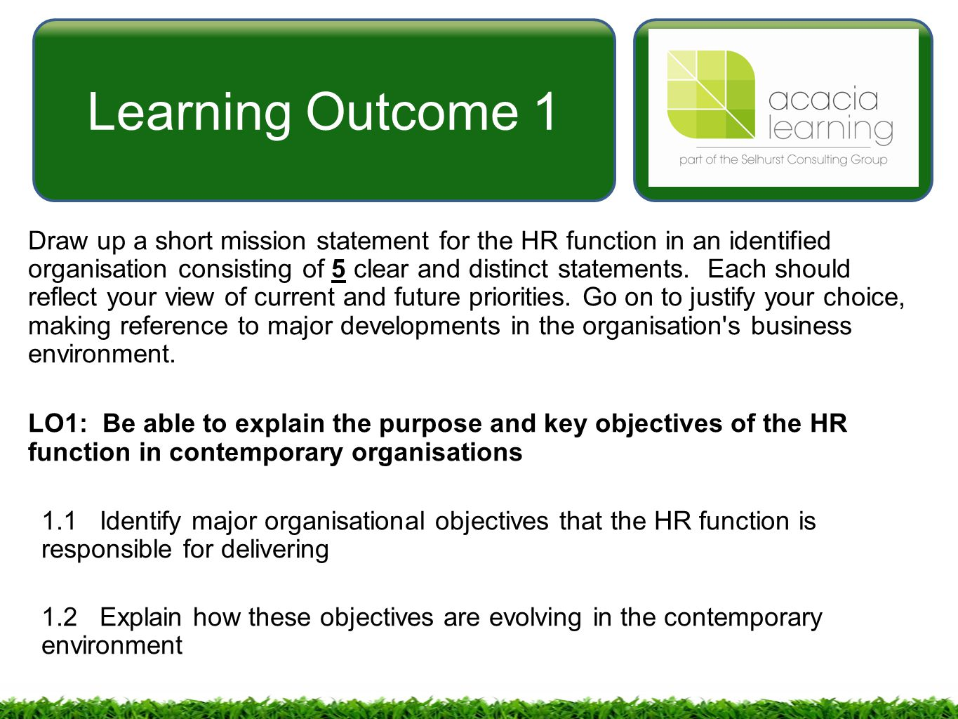 Managing And Co Ordinating The Human Resources Function 5mhr Ppt