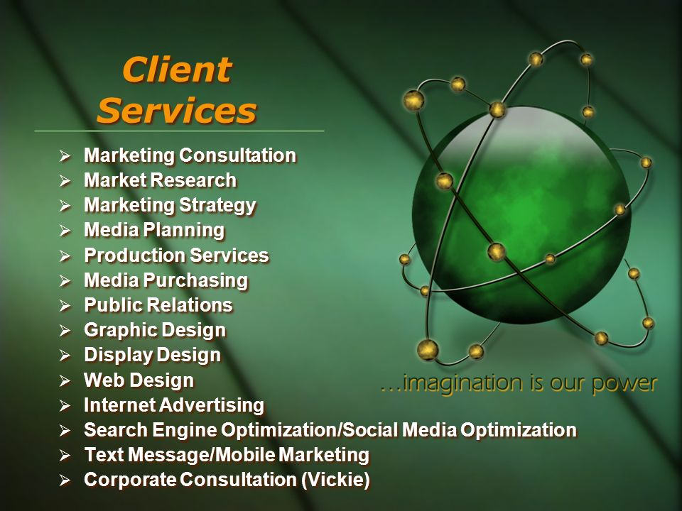 Client Services Marketing Consultation Market Research