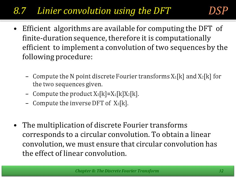 Linear convolution of two finite-length sequences