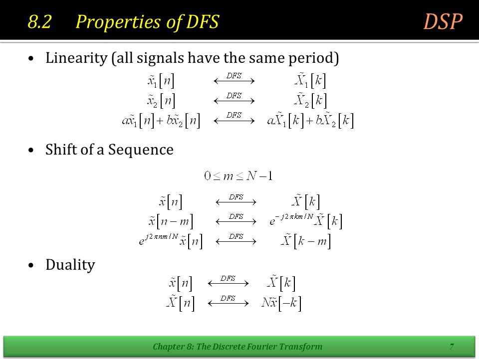 Chapter 8: The Discrete Fourier Transform