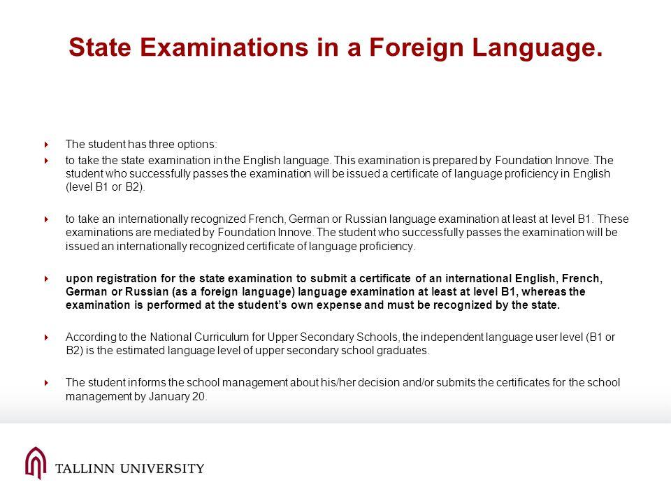 International Qualifications and Language Proficiency