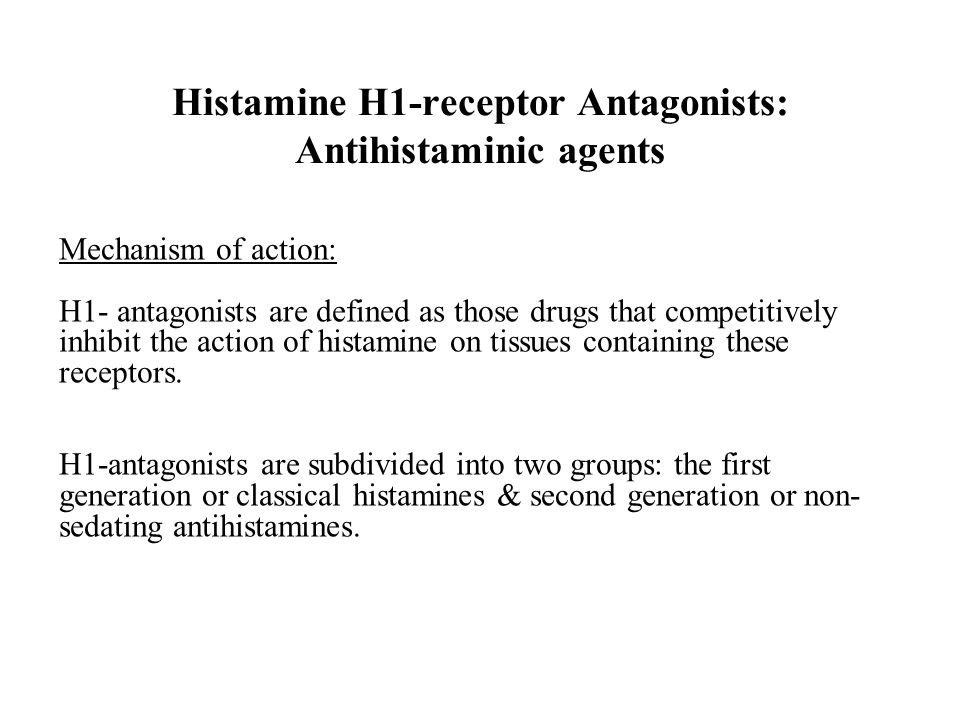 Level 5-module 4: histamine receptors.