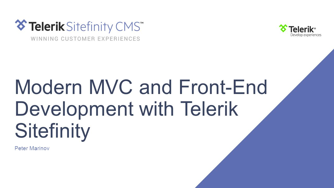 Modern MVC and Front-End Development with Telerik Sitefinity