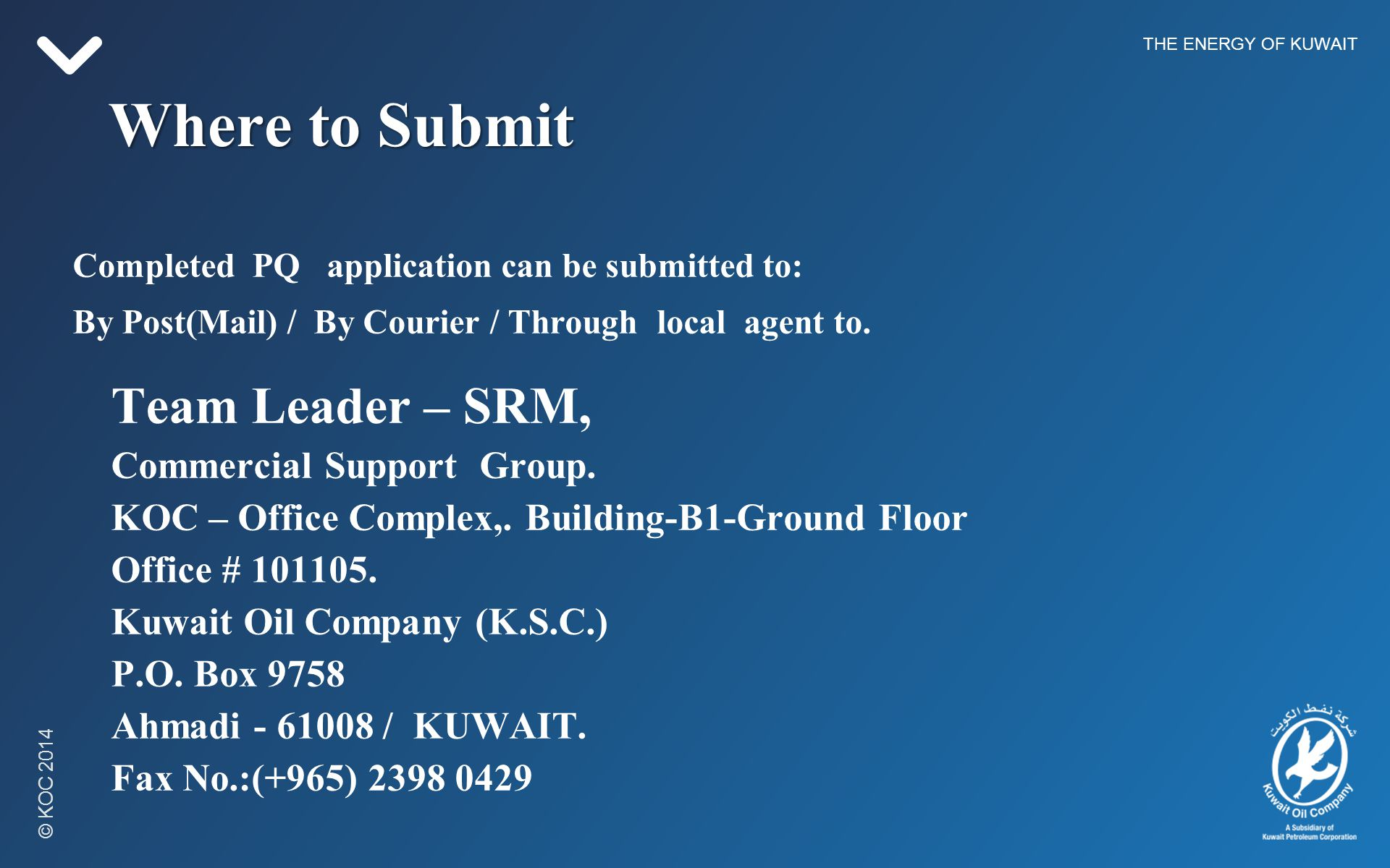 THE ENERGY OF KUWAIT  - ppt video online download