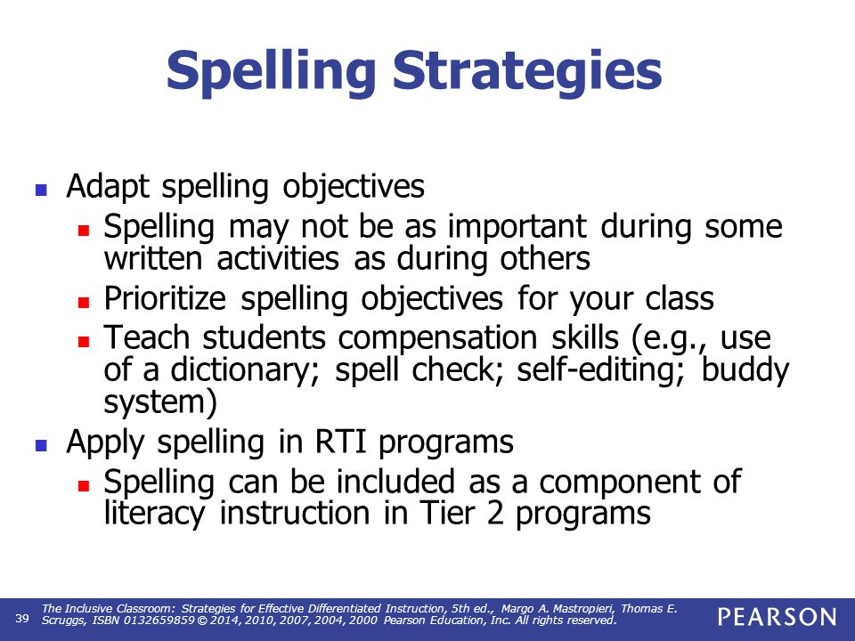 Literacy Chapter 14 The Inclusive Classroom Strategies For