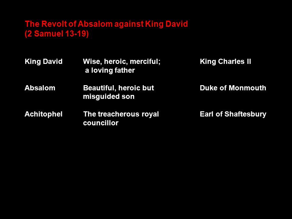 john dryden absalom and achitophel summary