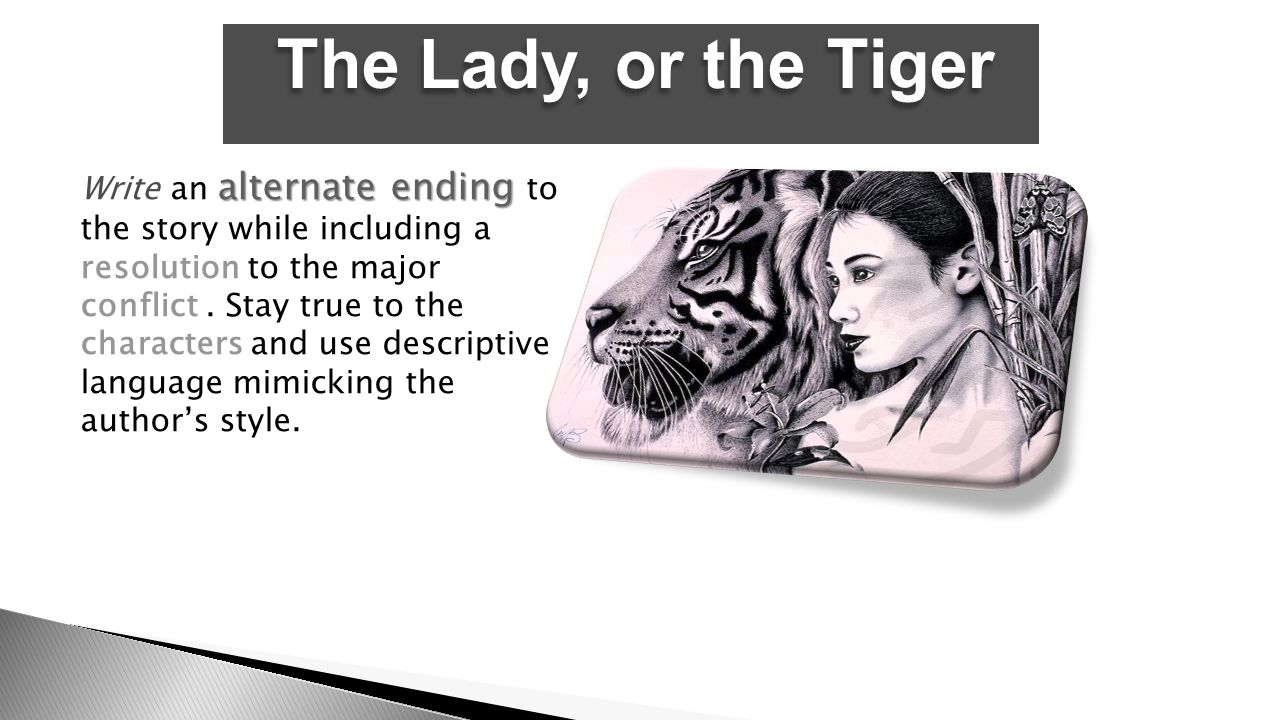 what is the plot of the lady or the tiger
