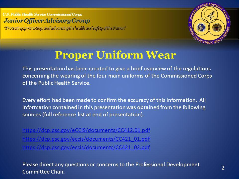 Company uniform policy.