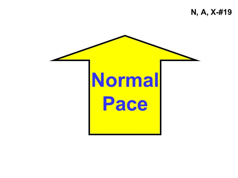 N, A, X-#19 Normal Pace