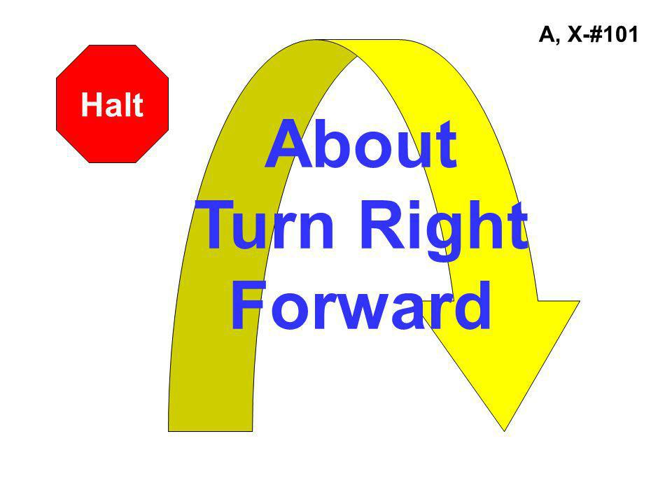 About Turn Right Forward