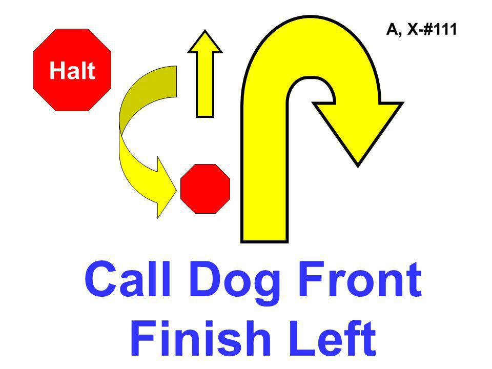 Call Dog Front Finish Left