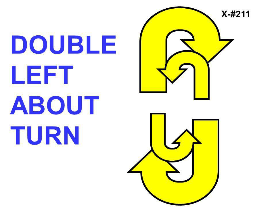 X-#211 DOUBLE LEFT ABOUT TURN