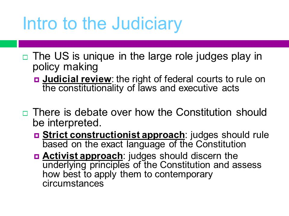 AP GOV: Chapter 14 The Judiciary - ppt video online download
