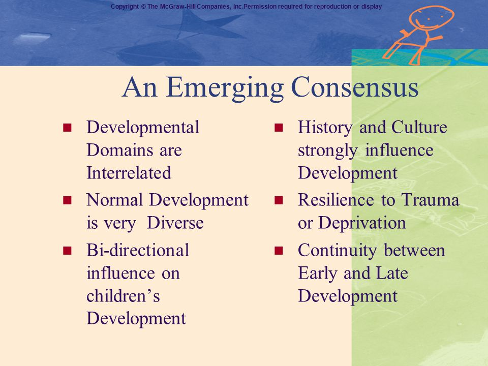 An Emerging Consensus Developmental Domains are Interrelated