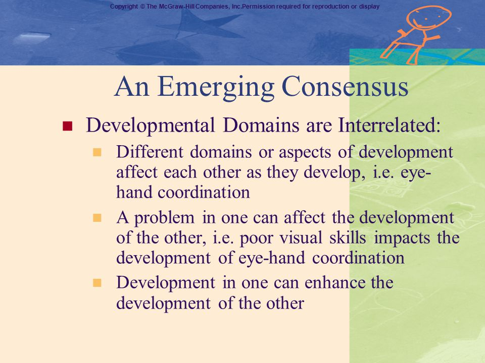 An Emerging Consensus Developmental Domains are Interrelated: