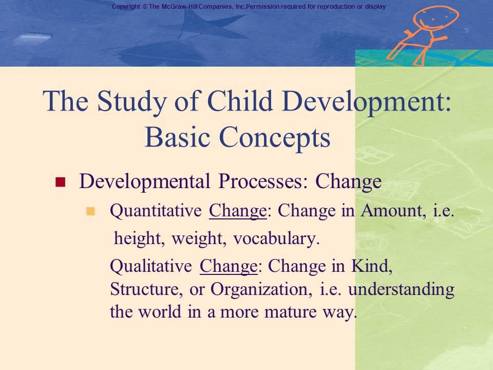 The Study of Child Development: Basic Concepts