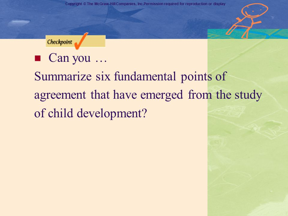 Can you … Summarize six fundamental points of. agreement that have emerged from the study.