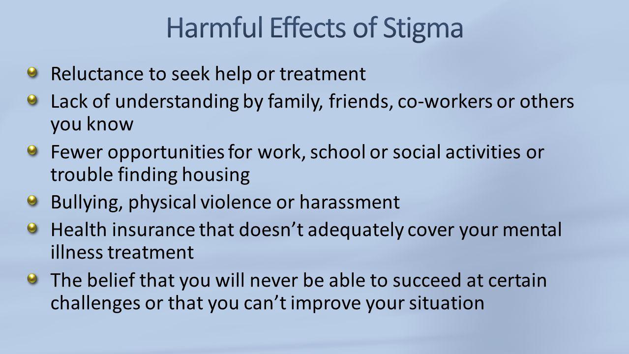 Understanding And Erasing The Stigma Of Mental Illness Ppt Video