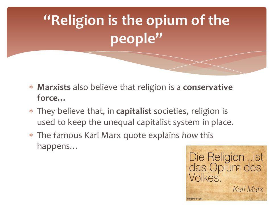 karl marx opium of the people