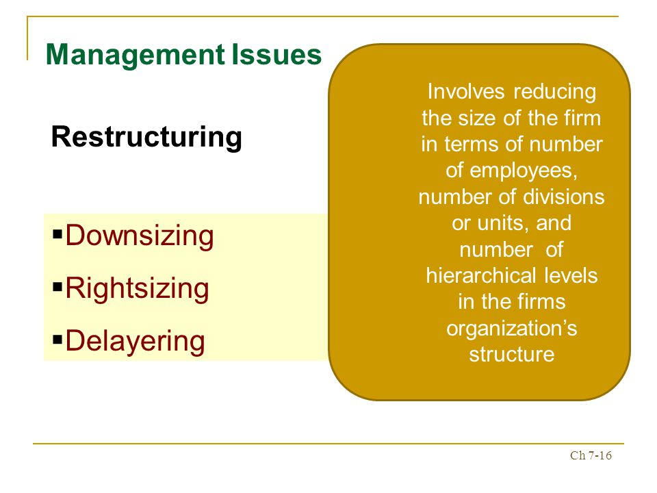 the new organizational reality downsizing restructuring and revitalization essay The health care sector has undergone significant change during the past decade as hospitals struggle to provide the same service with fewer resources this study examined perceptions of hospital restructuring and downsizing and their effects on nursing staff as a function of years in nursing data.