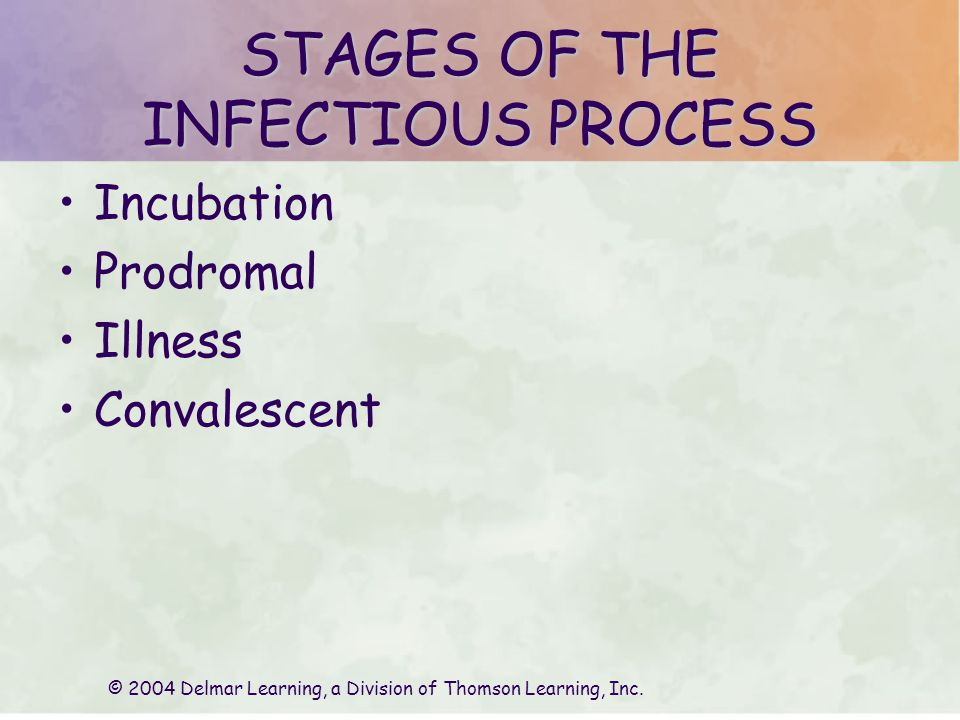 STAGES OF THE INFECTIOUS PROCESS