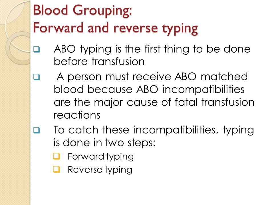 abo typing procedure