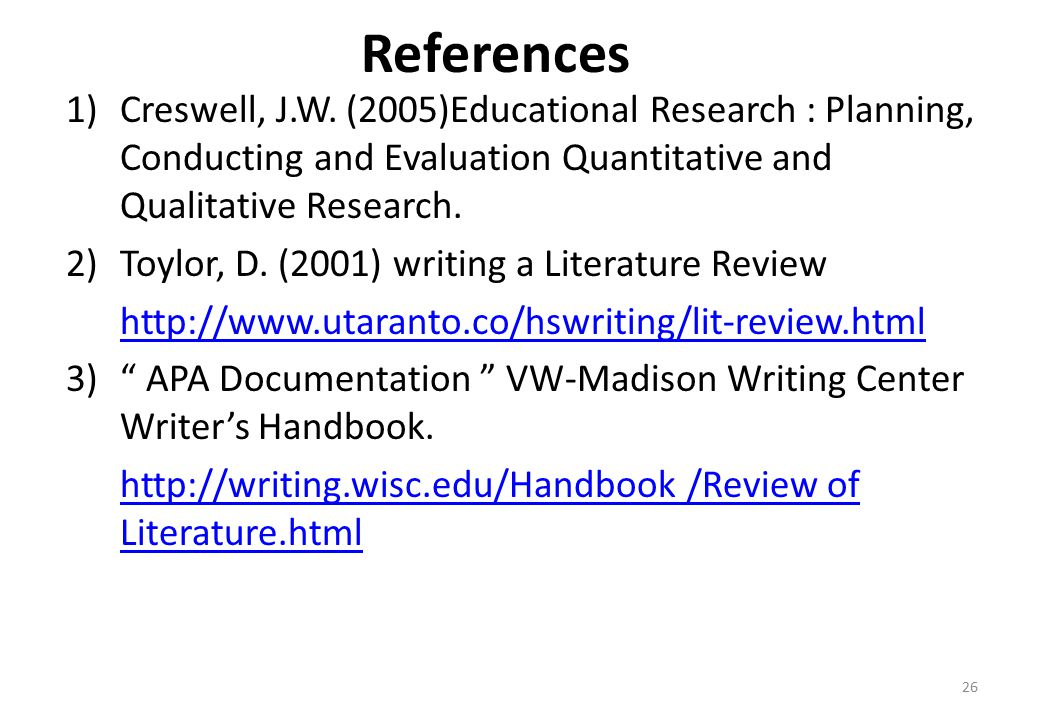purpose of literature review in educational research