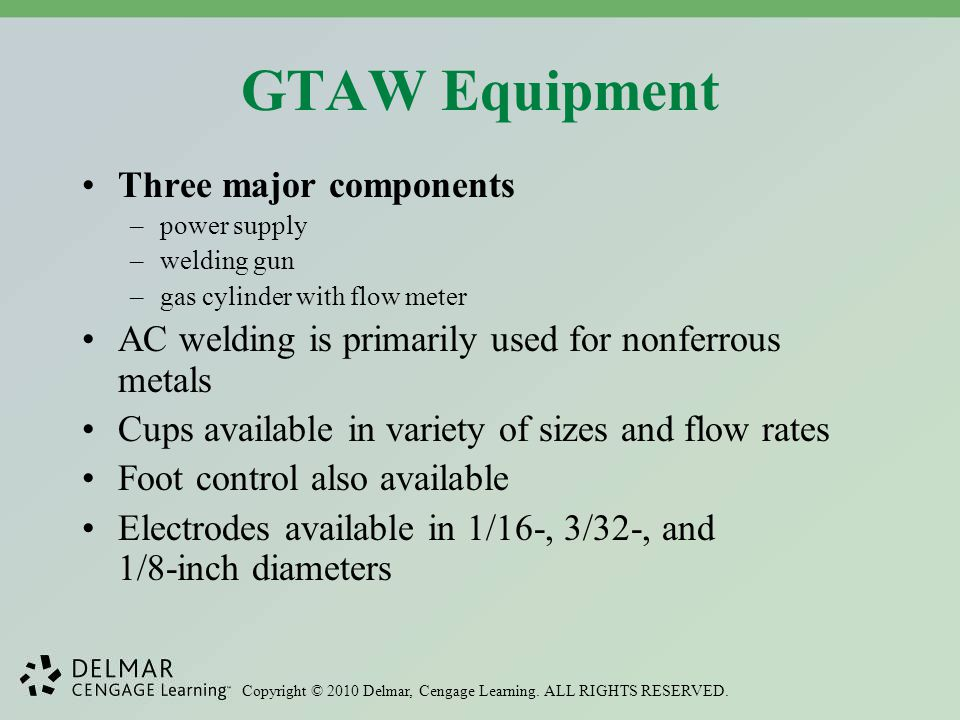 GTAW Equipment Three major components