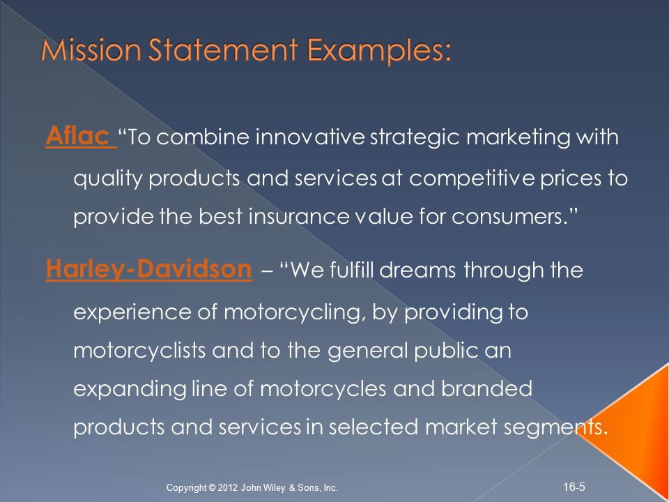 5 mission statement examples