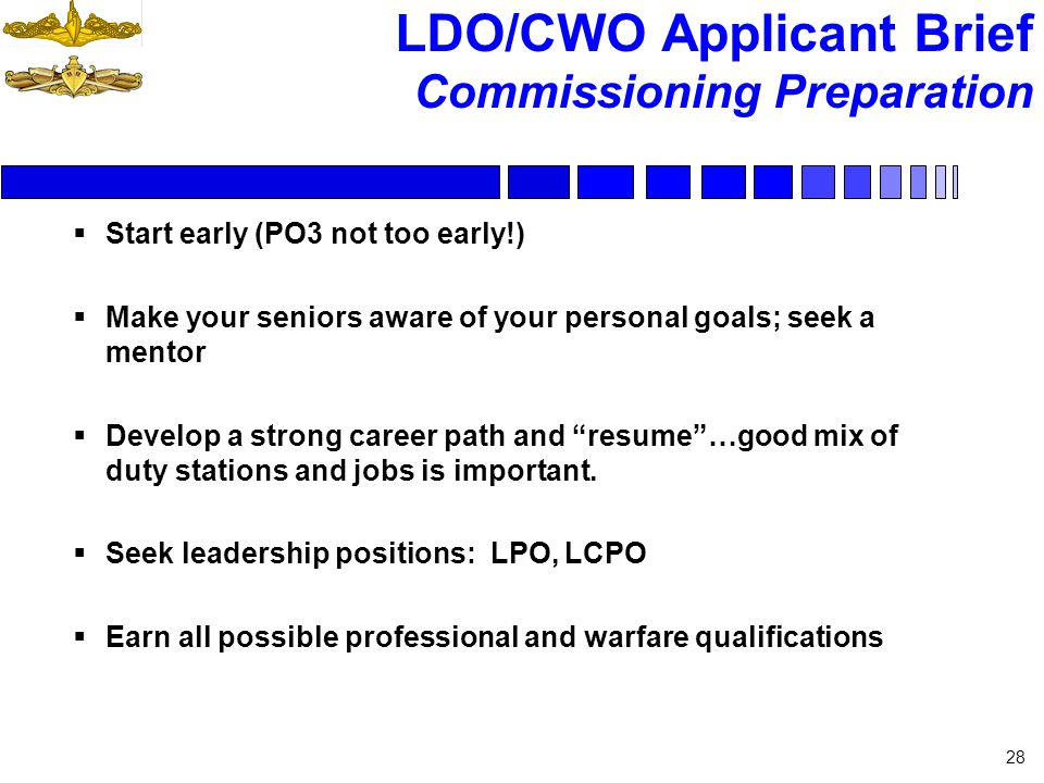 LDO CWO Applicant Brief Ppt Download