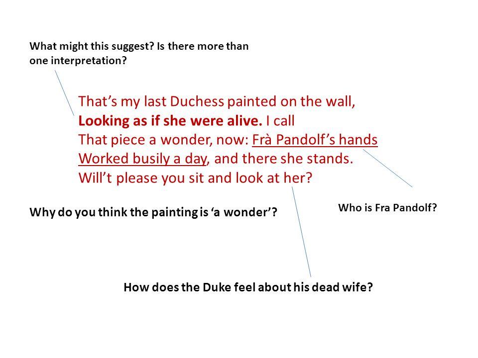 my last duchess analysis line by line