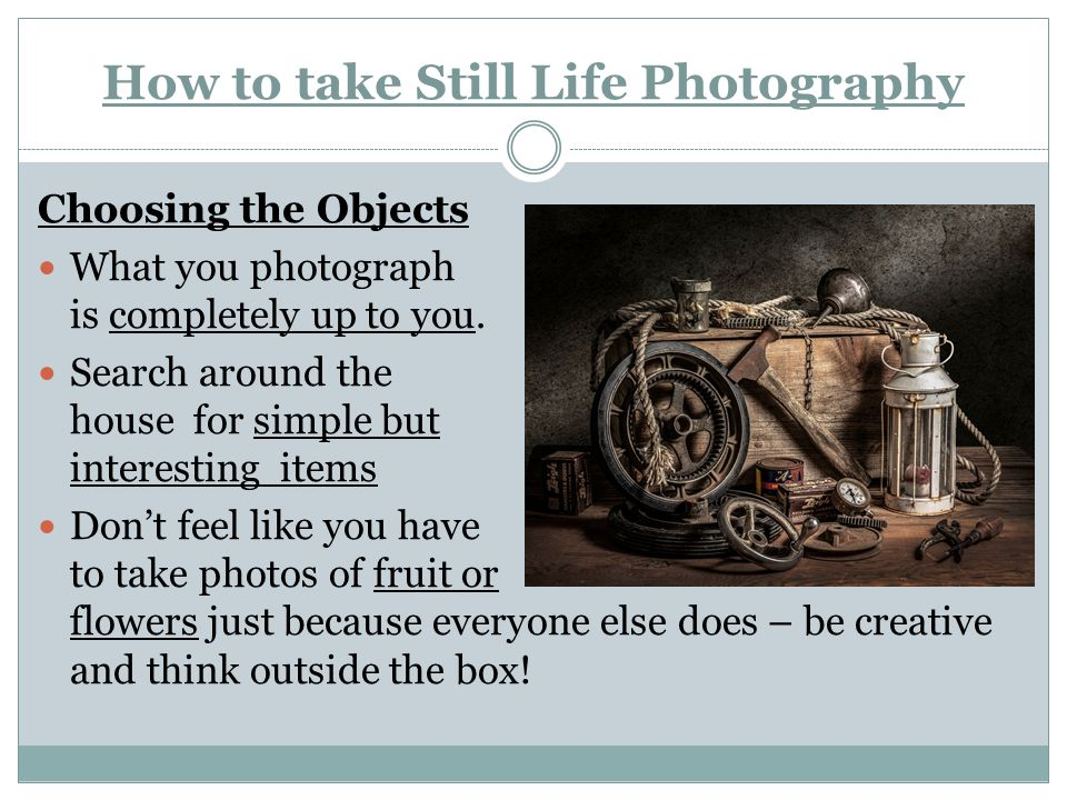 How to take Still Life Photography