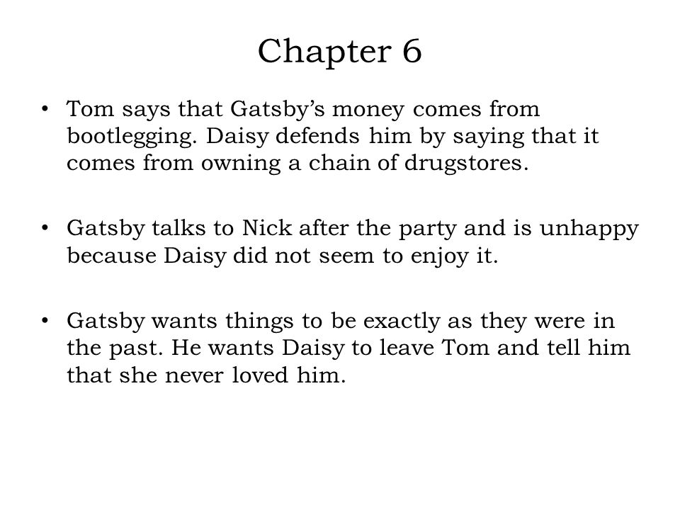 literary devices in the great gatsby chapter 6