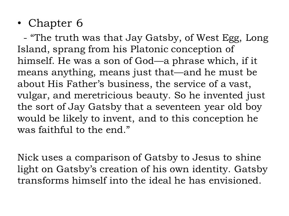 the great gatsby chapter 6 pdf