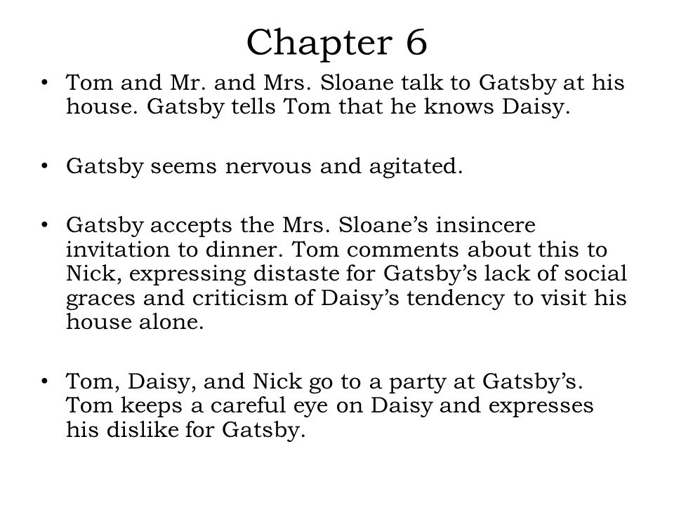 The Great Gatsby Chapters ppt video online download