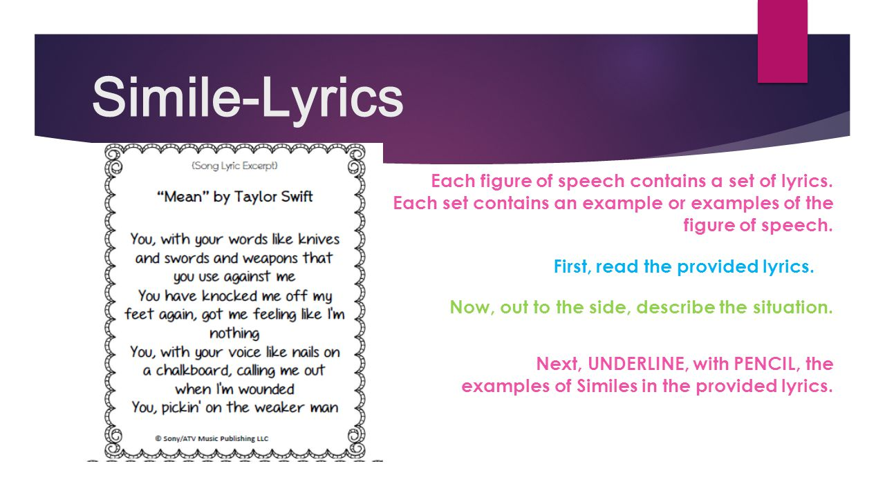 Figures Of Speech Simile 5 Examples Image Collections Example