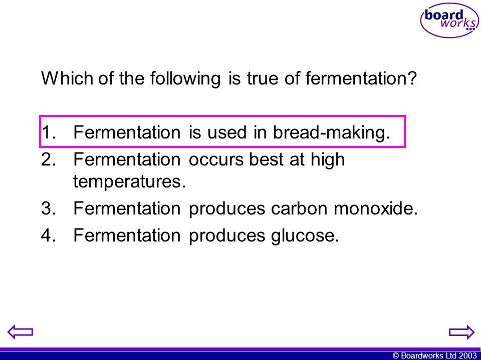 Which of the following is true of fermentation