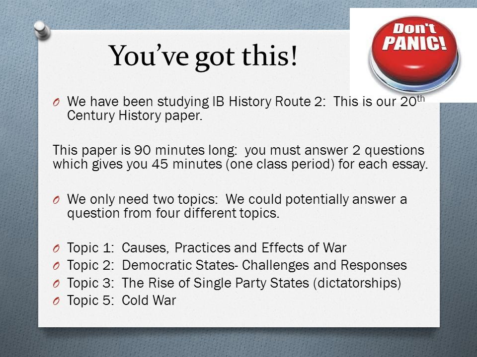 th century world history   ppt video online download we have been studying ib history route  this english learning essay also sample business essay modest proposal essay
