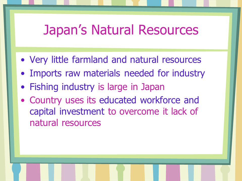 Japan's Natural Resources