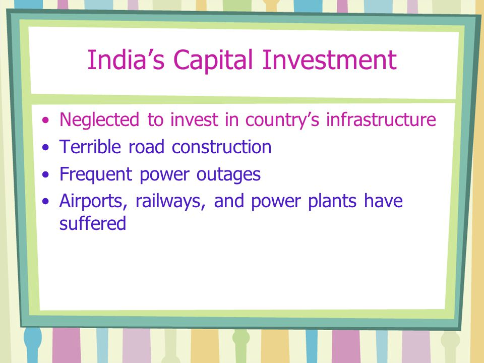 India's Capital Investment