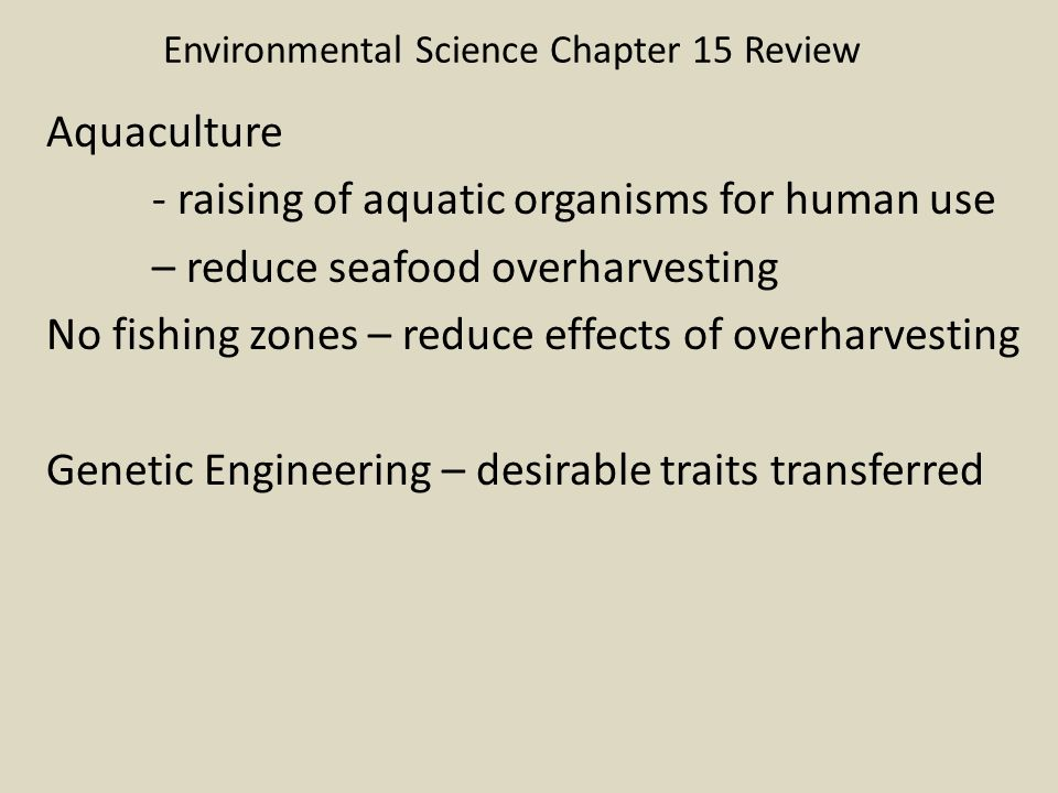 Environmental Science Chapter 15 Review