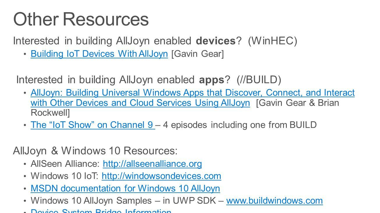 alljoyn windows service