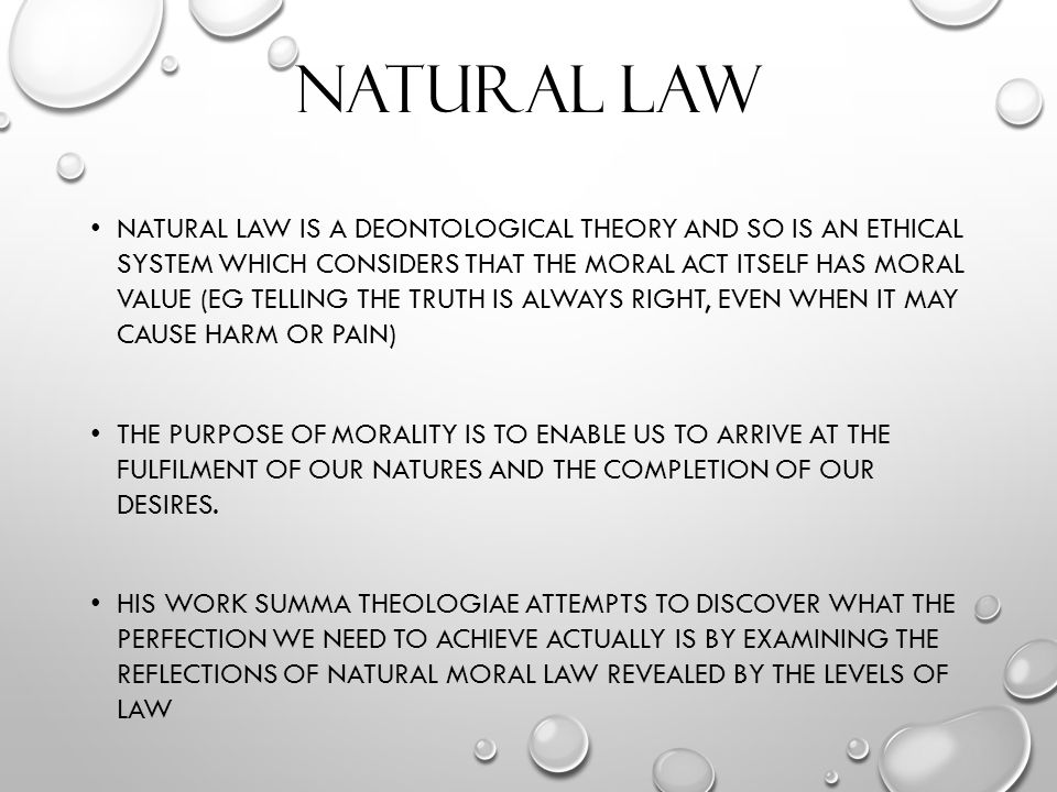 Sexuality natural law