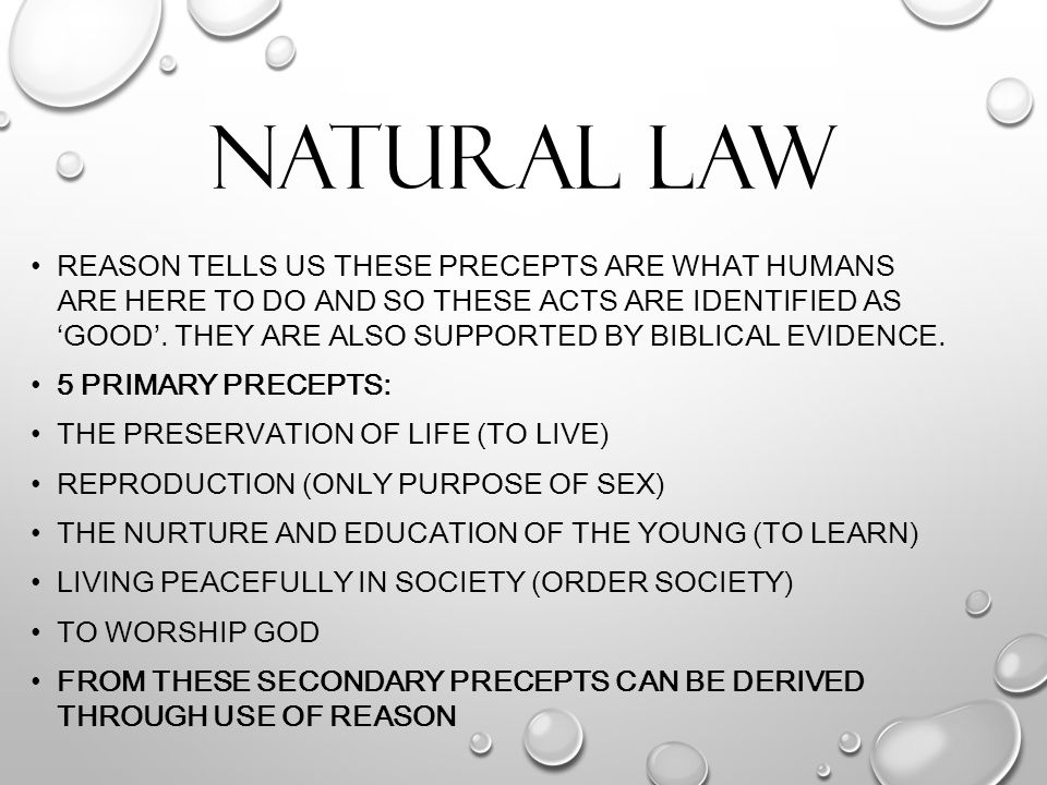 The natural law purpose of sex