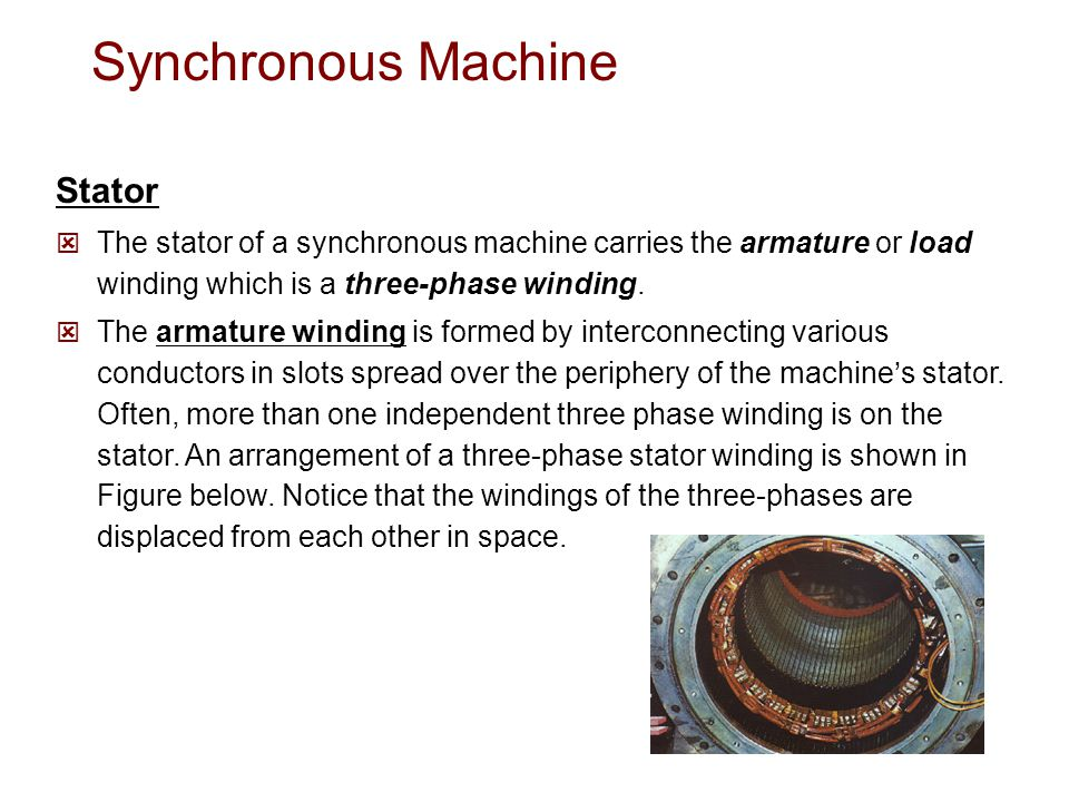 Synchronous Machine Stator