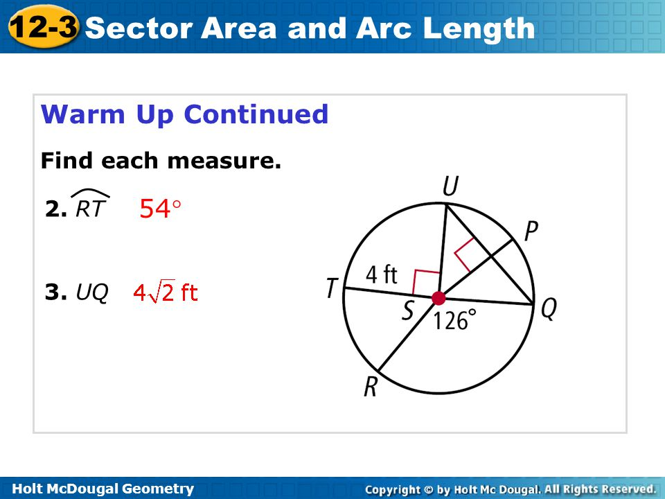 Sector Area And Arc Length Ppt Video Online Download