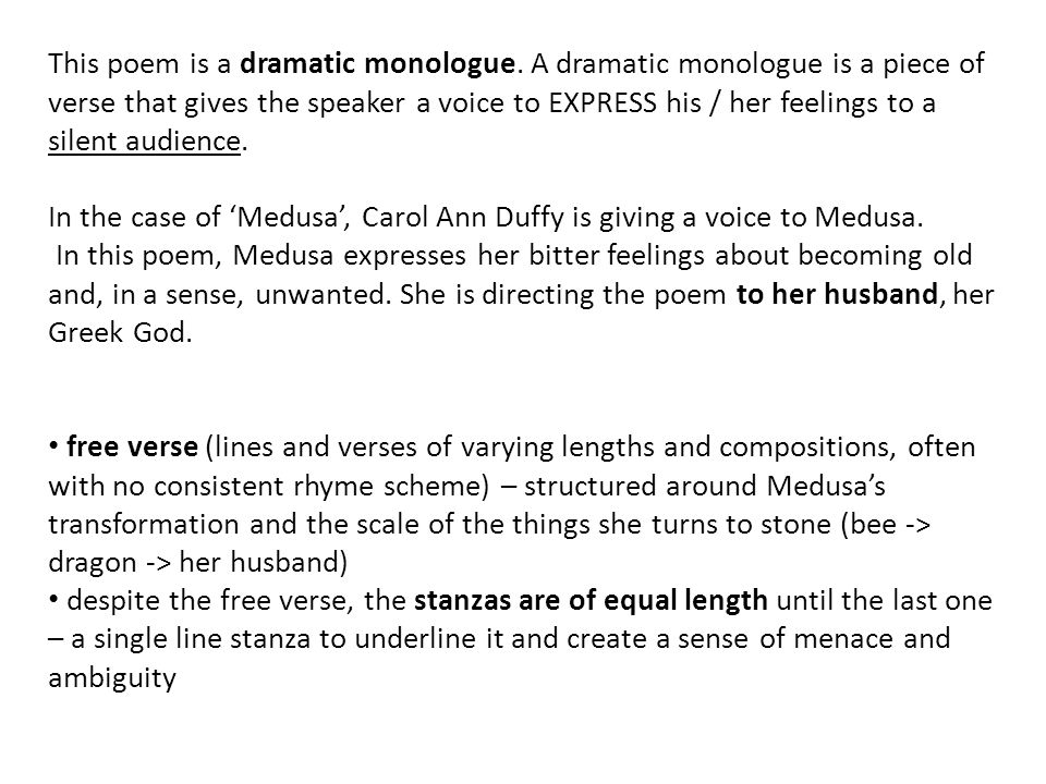 essay on medusa carol ann duffy