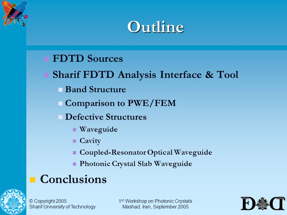 PWE and FDTD Methods for Analysis of Photonic Crystals - ppt