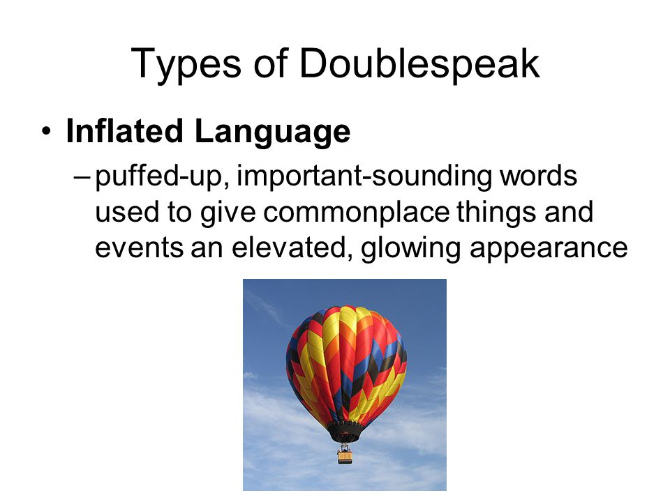inflated language meaning