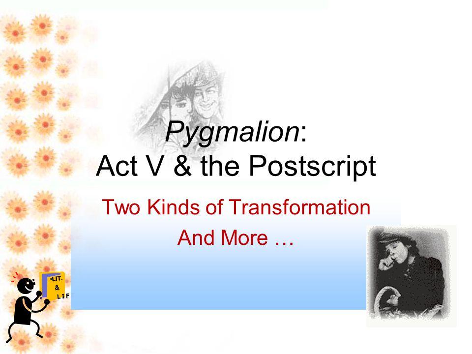 pygmalion script act 2